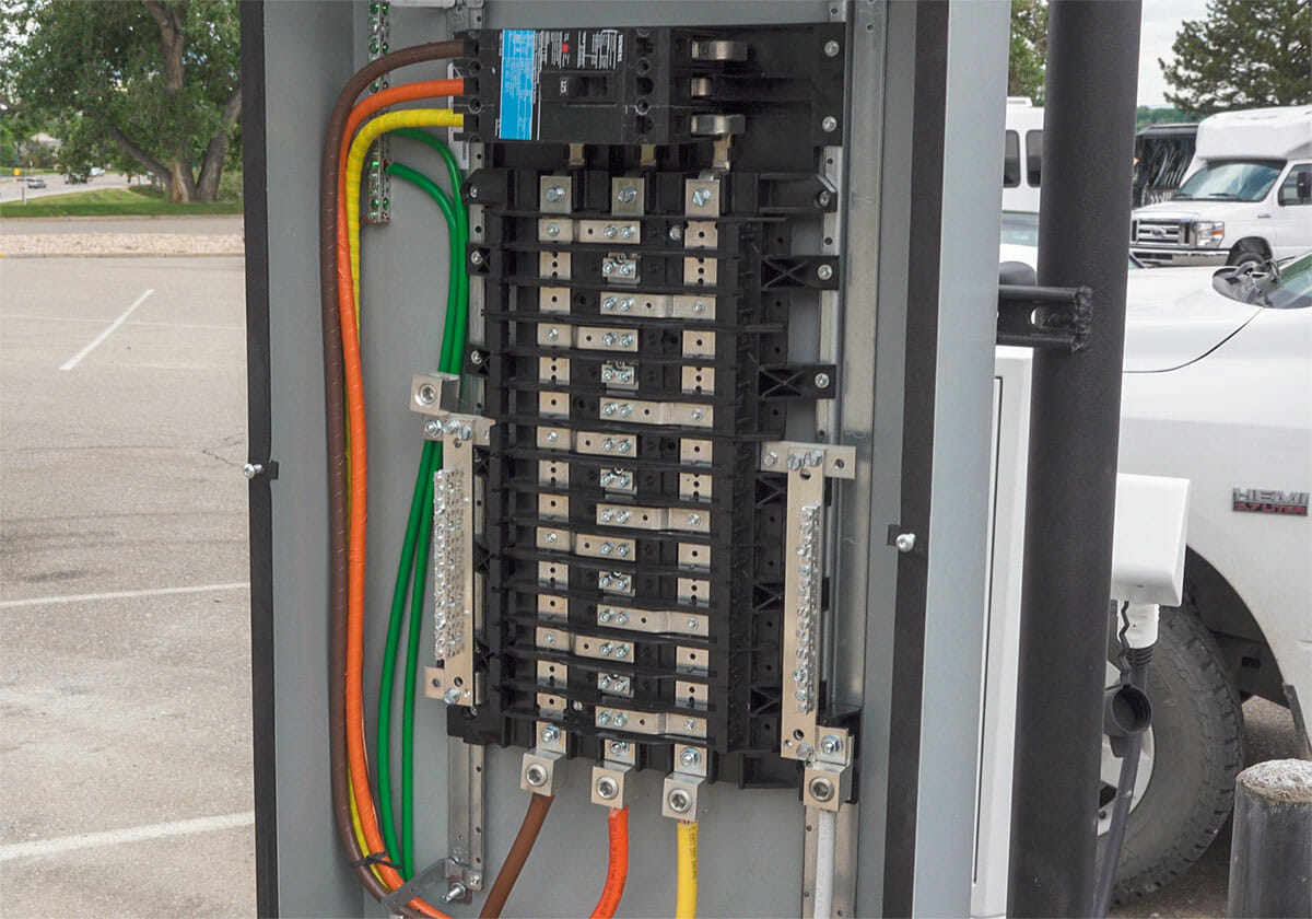 Electrical panel at EVSE installation